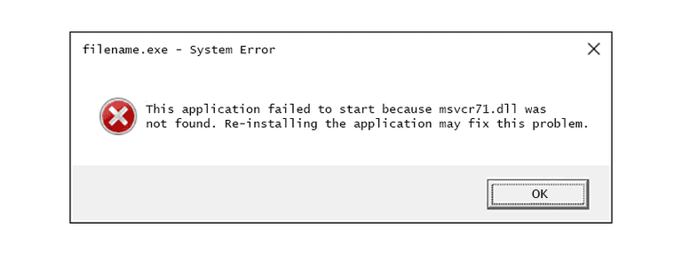 Msvcr71.dll Error Message
