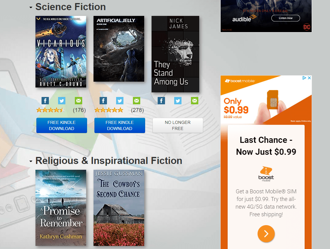 eBookDaily free science fiction and religious movies