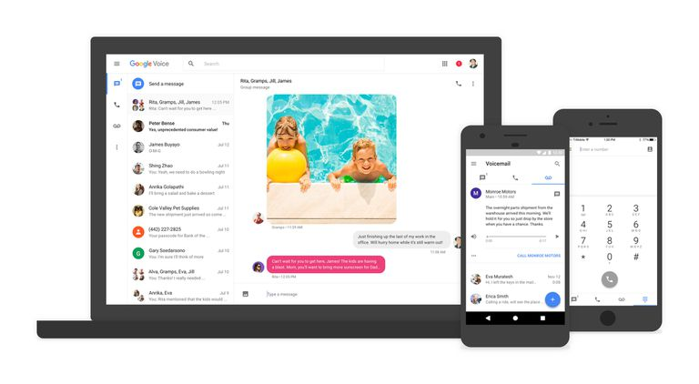 Google Voice comes with visual voicemail