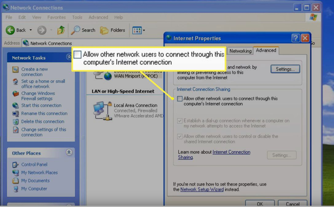 Allow other network users checkbox