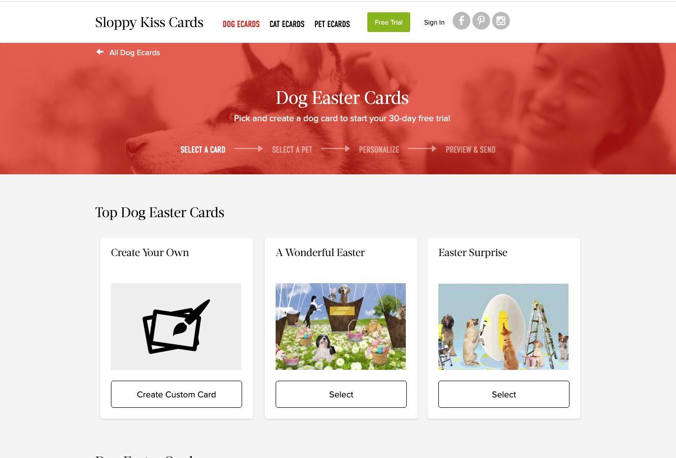 Sloppy Kiss Easter Cards