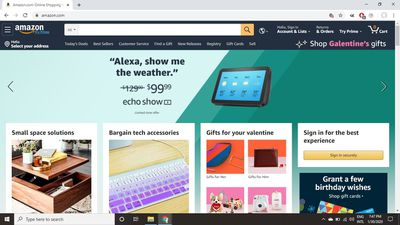 Select Account & Lists at the top of the Amazon home page.