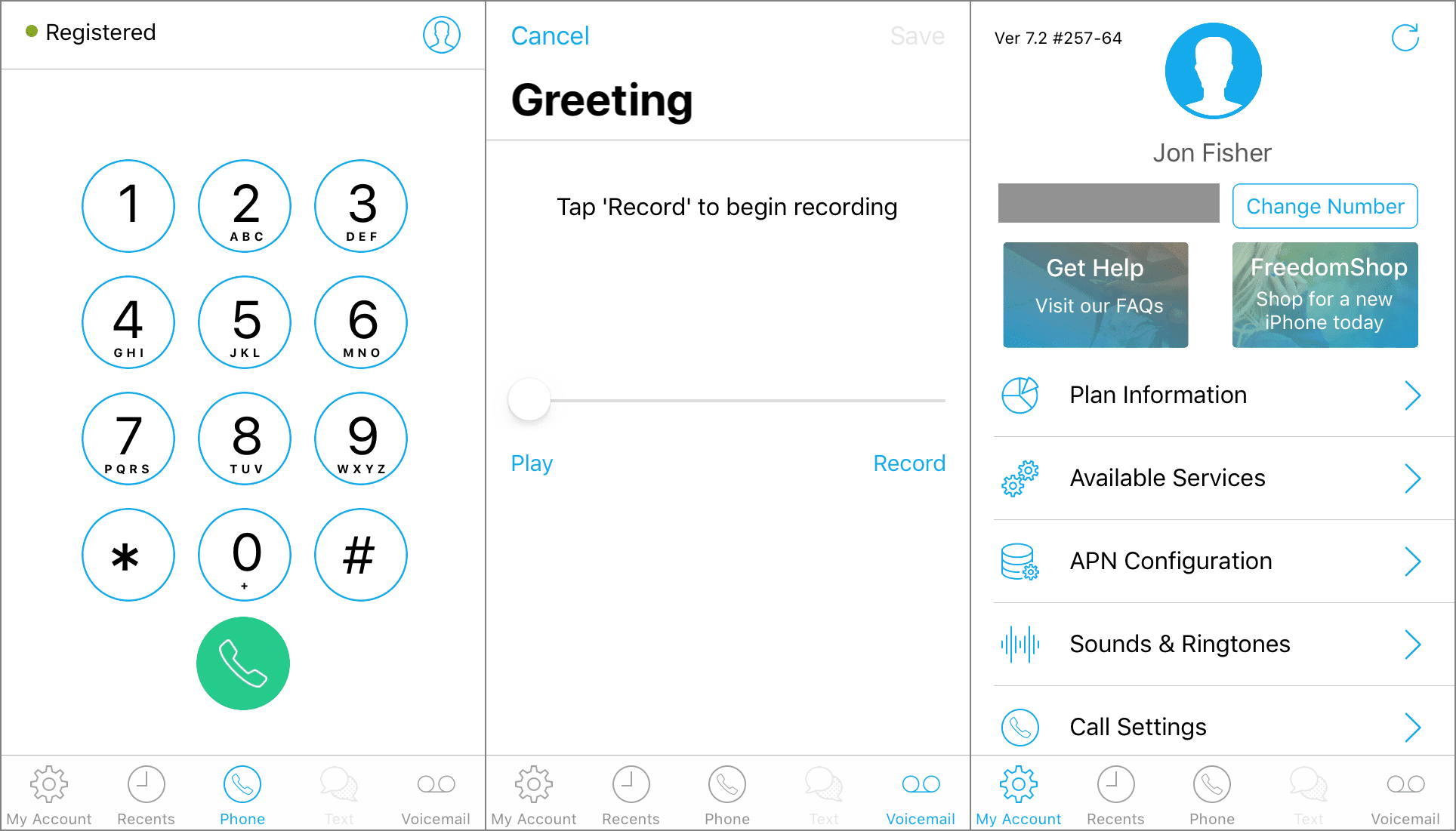 FreedomPop Wi-Fi calling app for iPhone