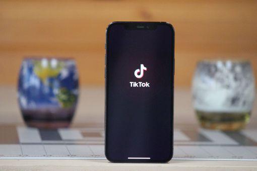 TikTok on an iPhone