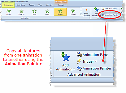 Animation Painter is new to PowerPoint 2010 (Beta)