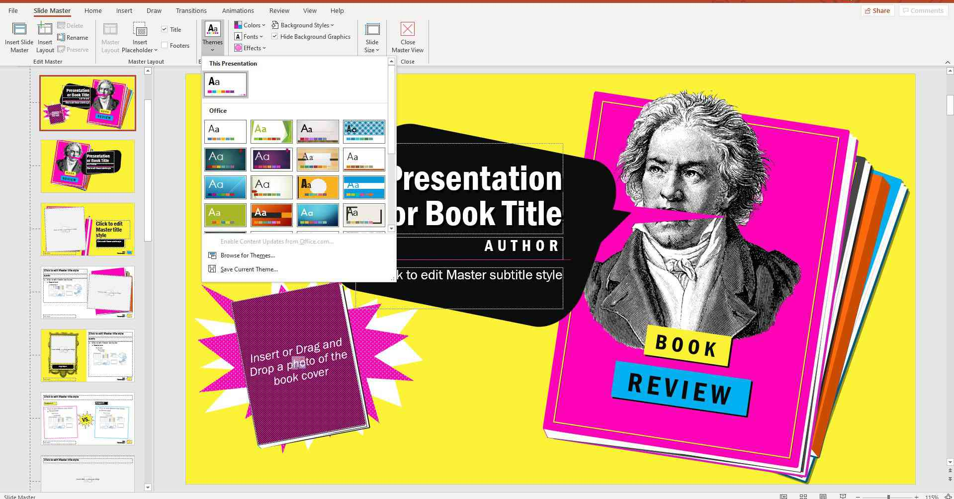 Design themes in PowerPoint