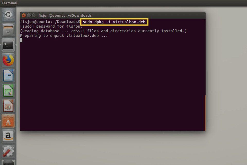 Sudo dpkg command in Ubuntu