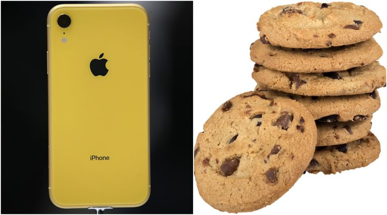 An iPhone and a pile of cookies