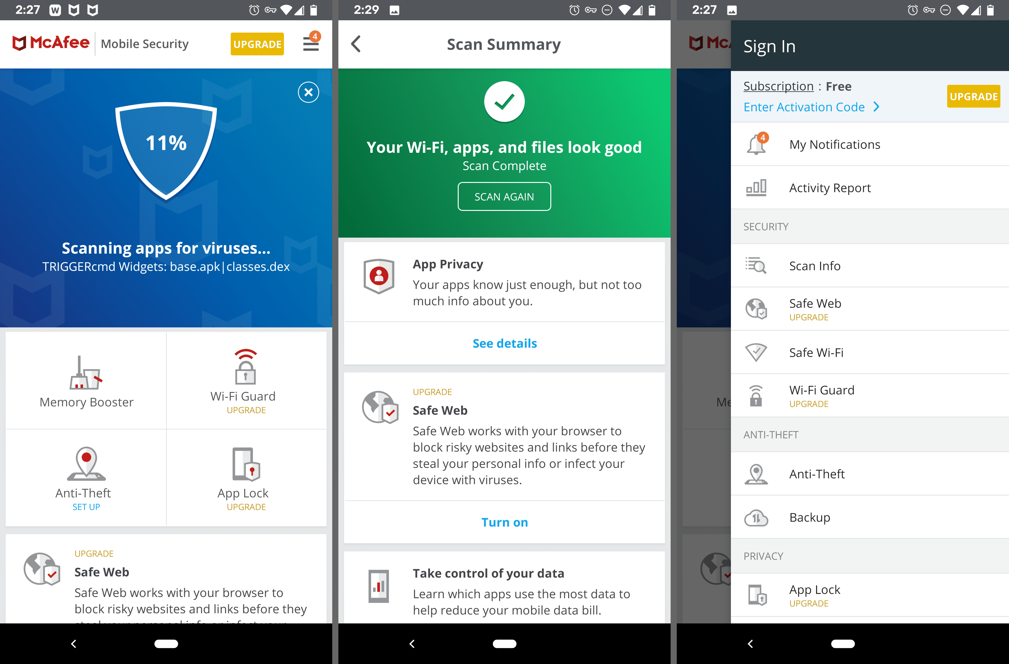 McAfee Mobile Security Android app