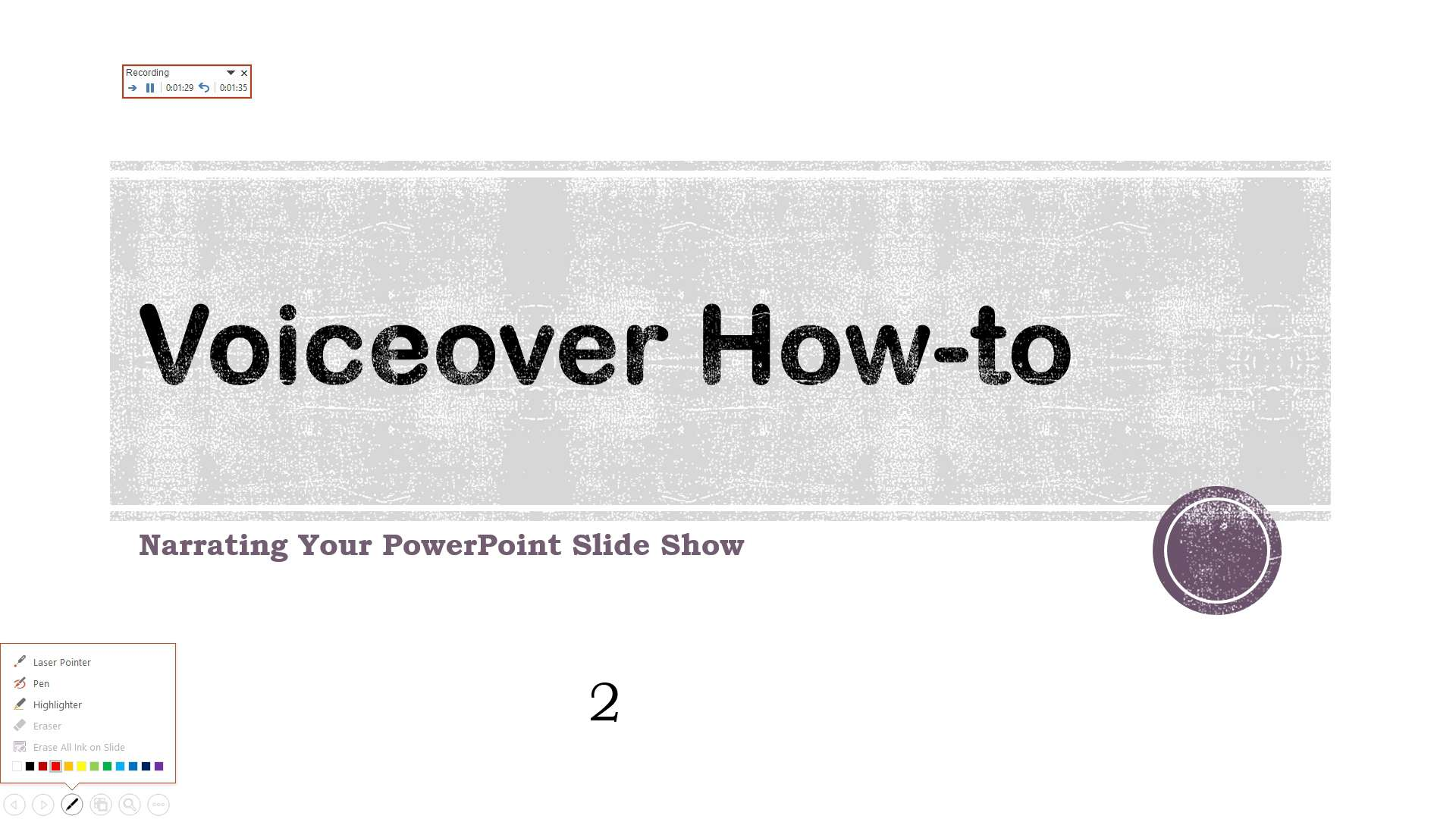 how to do voiceover