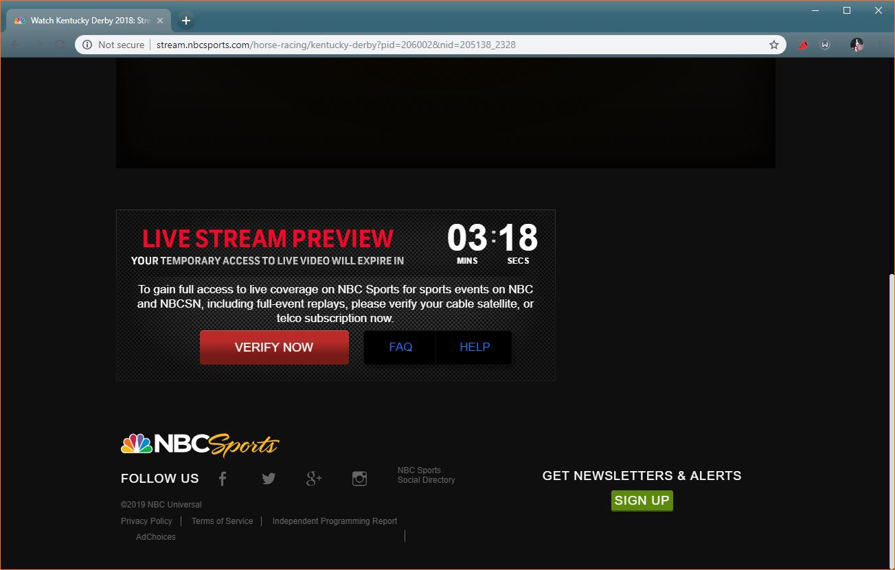 The NBC Sports Kentucky Derby site.