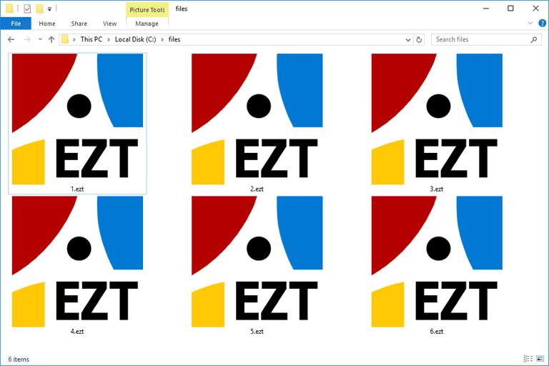 Screenshot of EZT Files