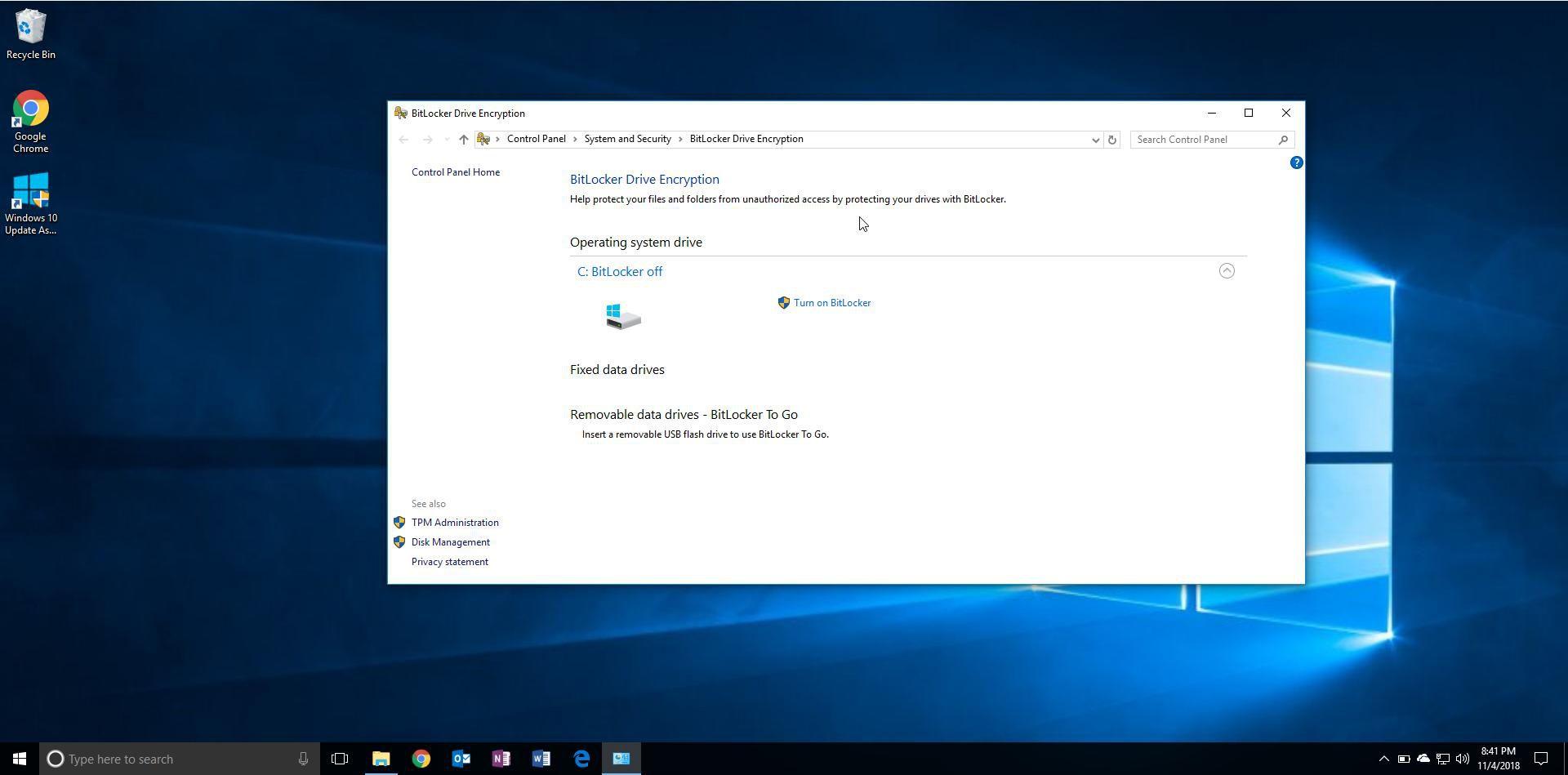 Windows' Bitlocker Drive Encryption Utility