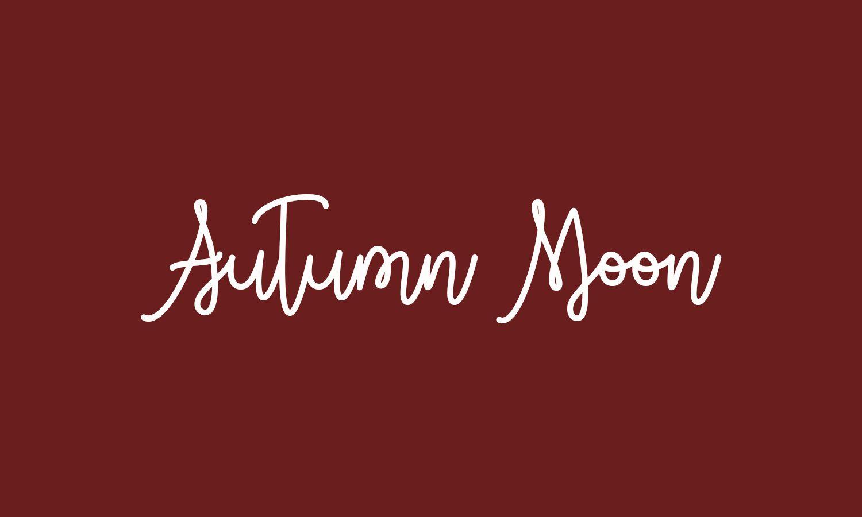 The Autumn Moon font
