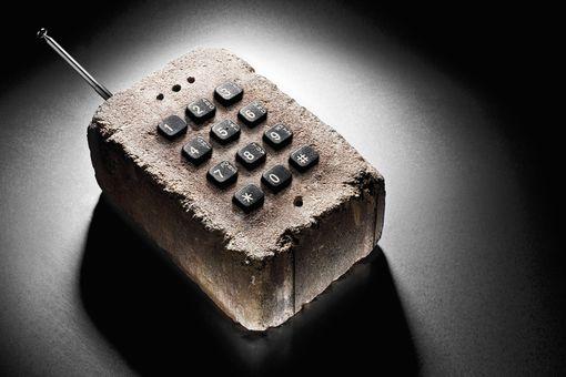 A phone made of brick