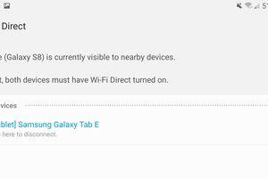 A screenshot of the Wi-Fi Direct screen on a Galaxy S8.