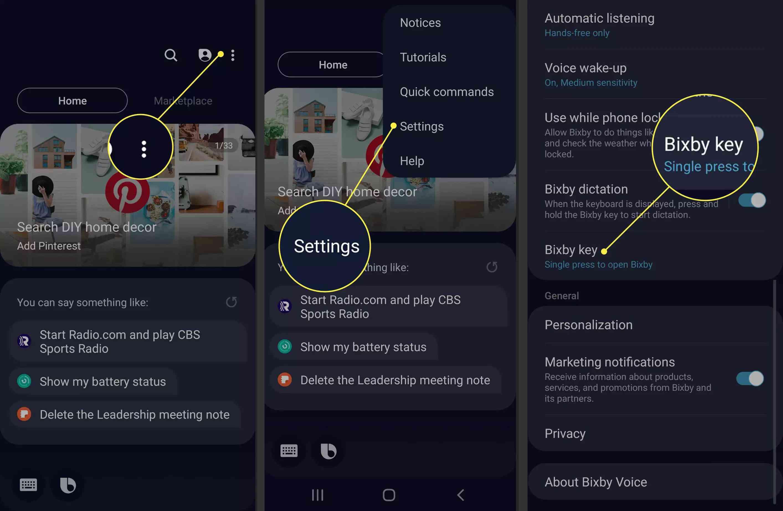 A Samsung user disables the Bixby button