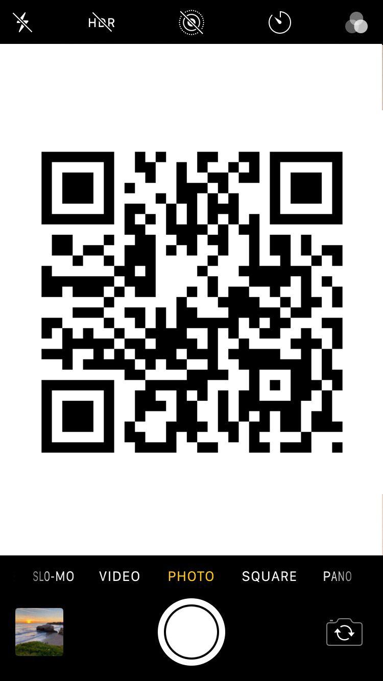 iphone qr reader camera