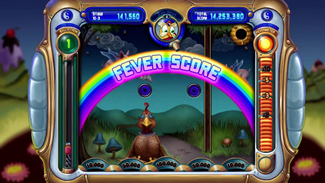 Screenshot of gameplay of Peggle on Fever Score