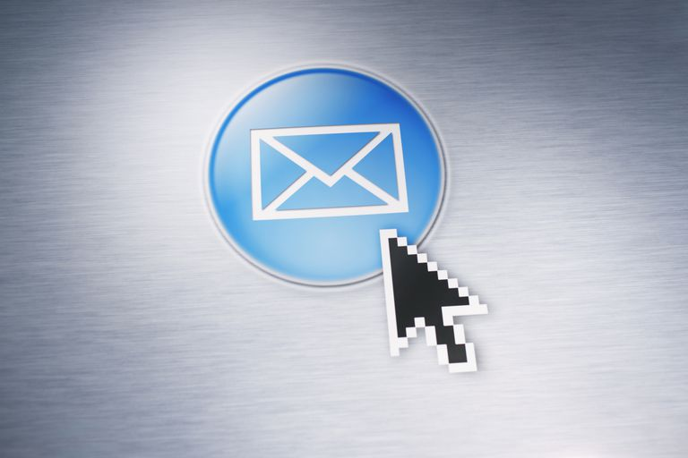 Email icon with cursor on it