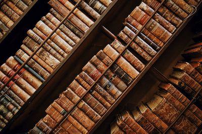 Shelves of old books