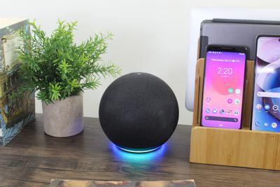 A 4th generation Echo providing the temperature from its sensor.