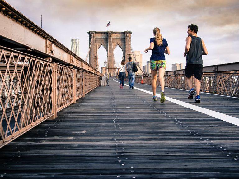 Running across a bridge