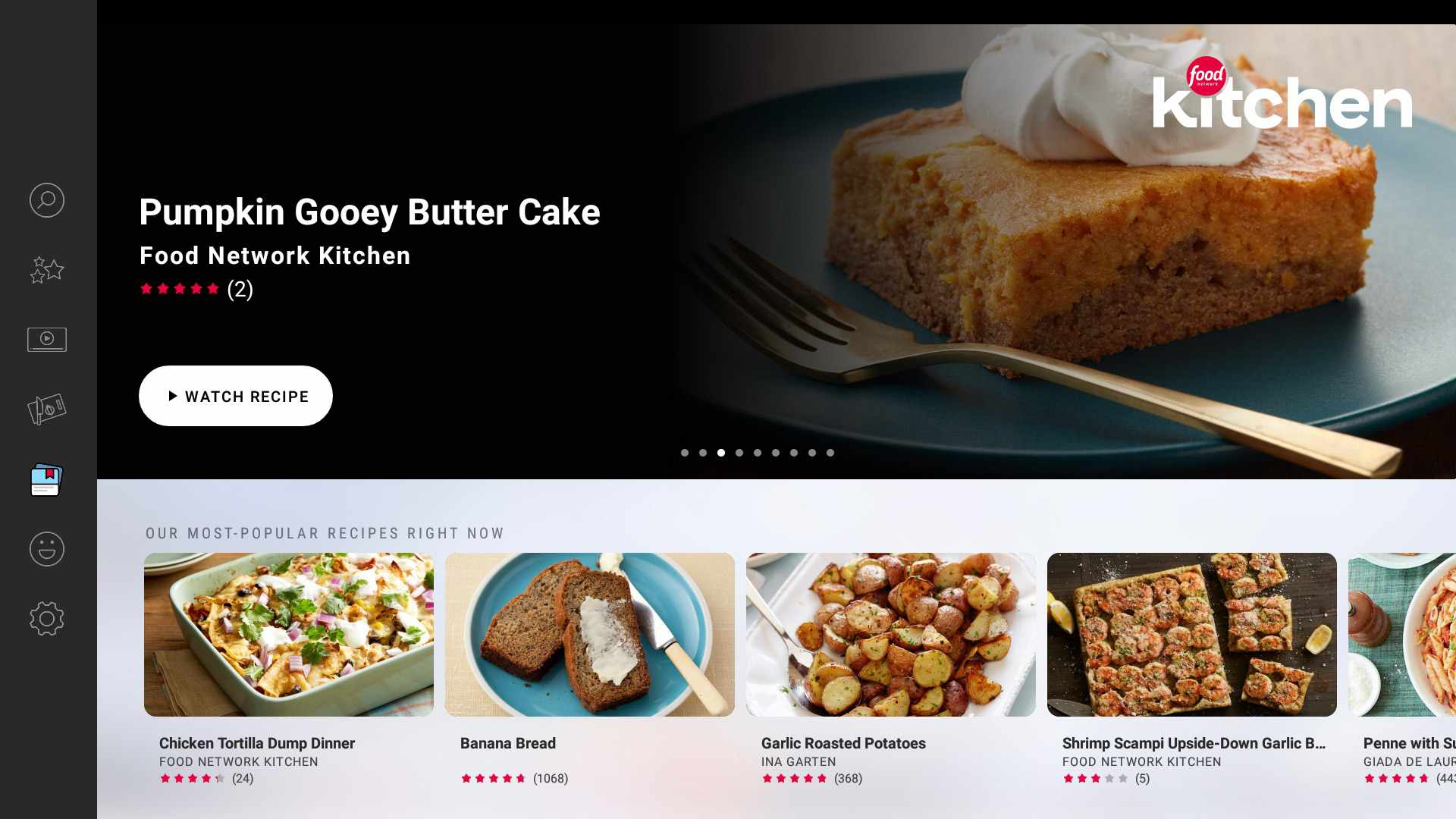 Food Network Kitchen app for Android TV