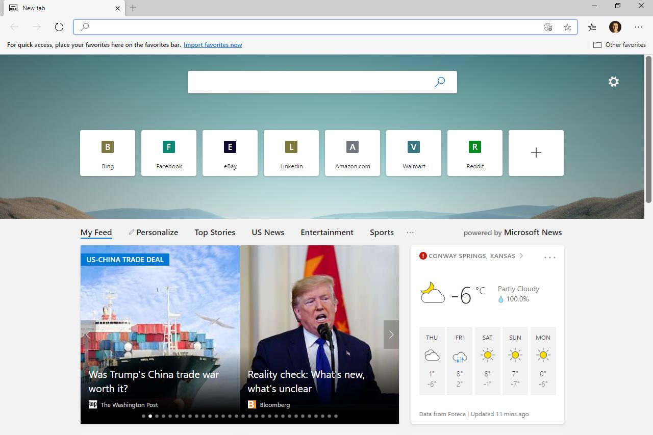 Microsoft Edge menu button