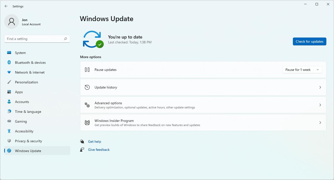 Windows Update for Windows 11