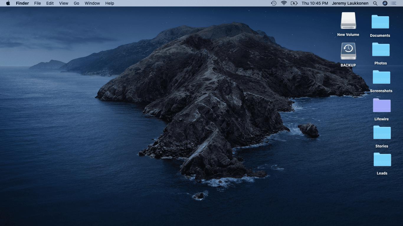 A screenshot of the macOS desktop.