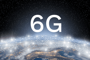 World network with the text 6G