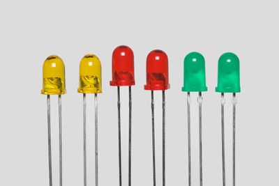 Individual LEDs in Red, Yellow, and Green.