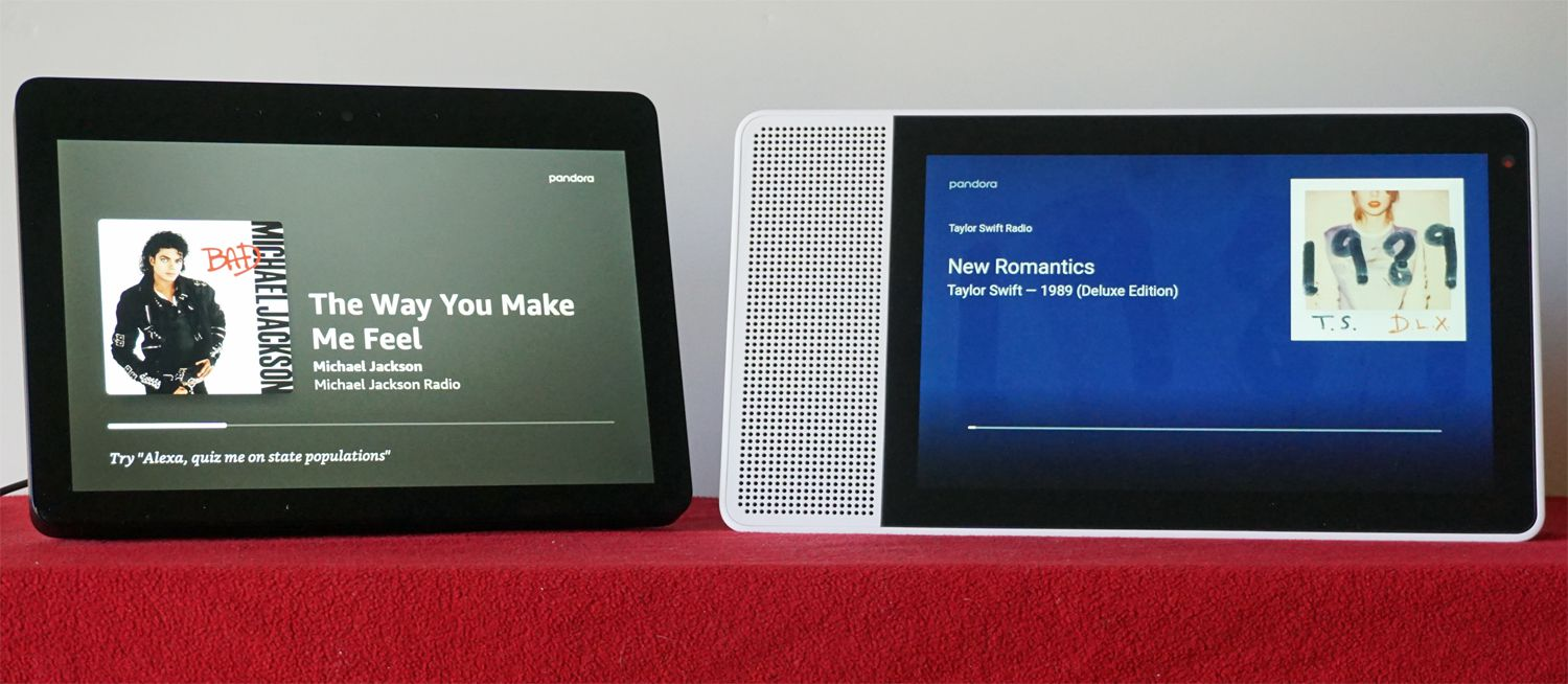 Amazon Echo Show and Lenovo Smart Display — Music