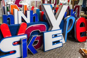Life-size letters