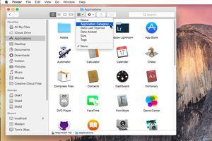 Item arrangement option in the Mac's Finder