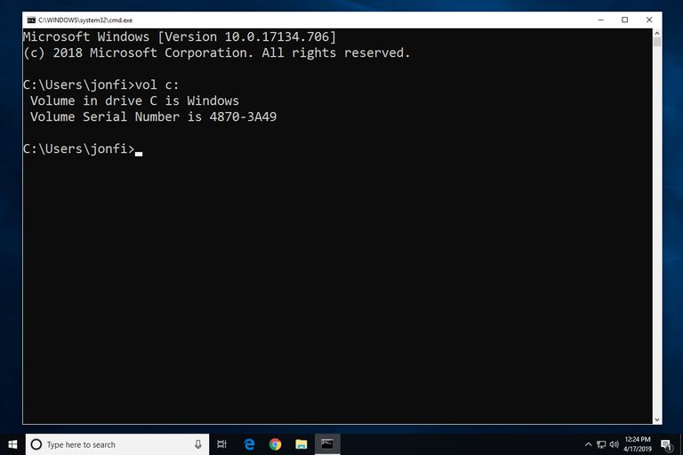 get windows serial number from command line