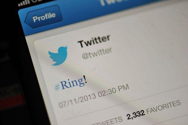 Twitter app displaying #ring.