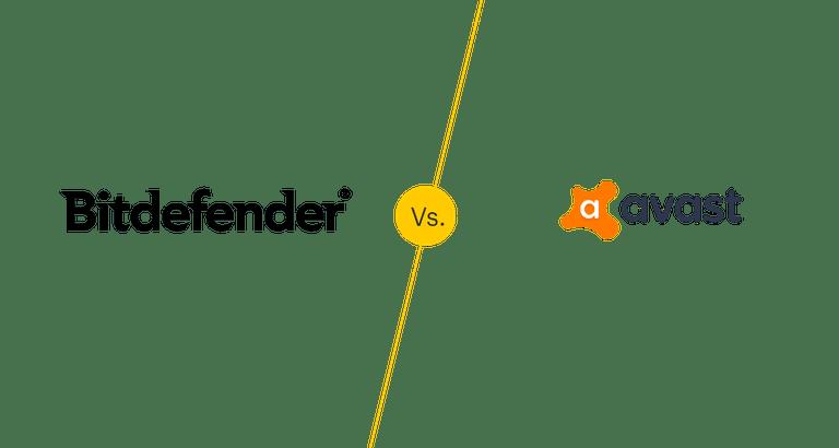Bitdefender free vs Avast free logos.