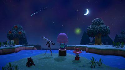 Animal Crossing: New Horizons shooting stars screenshot