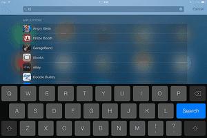 iPad Spotlight Search