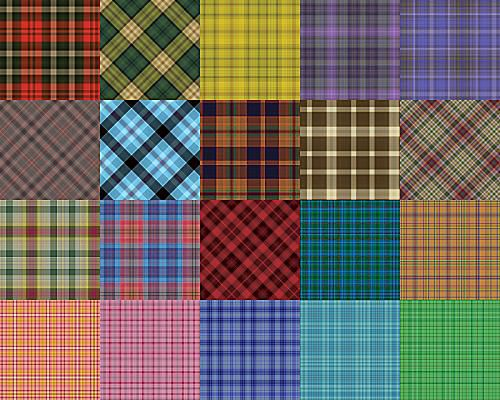 Plaid Patterns Set 1