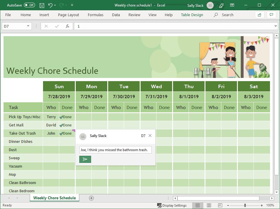 Green arrow selection