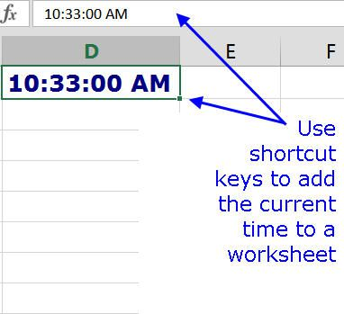 Add The Current Datetime In Excel Using Shortcut Keys