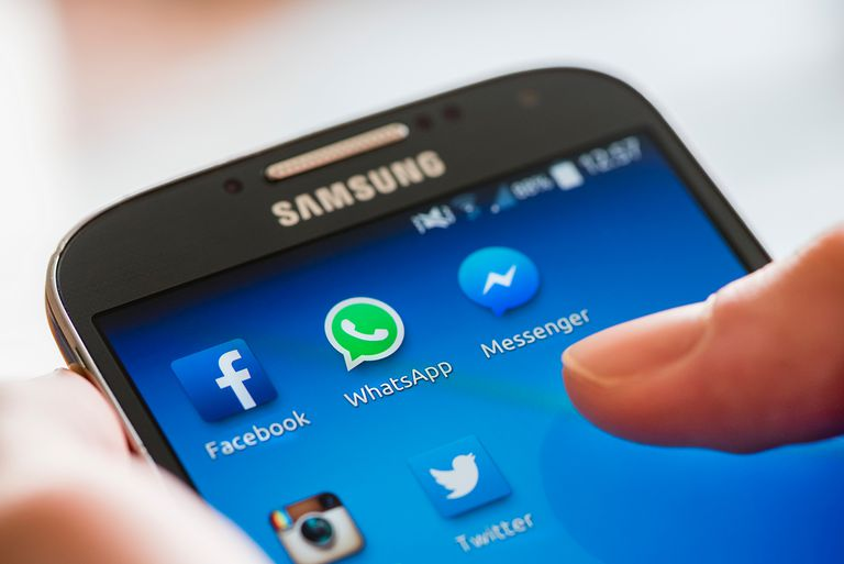 Facebook, WhatsApp and Messenger on smartphone