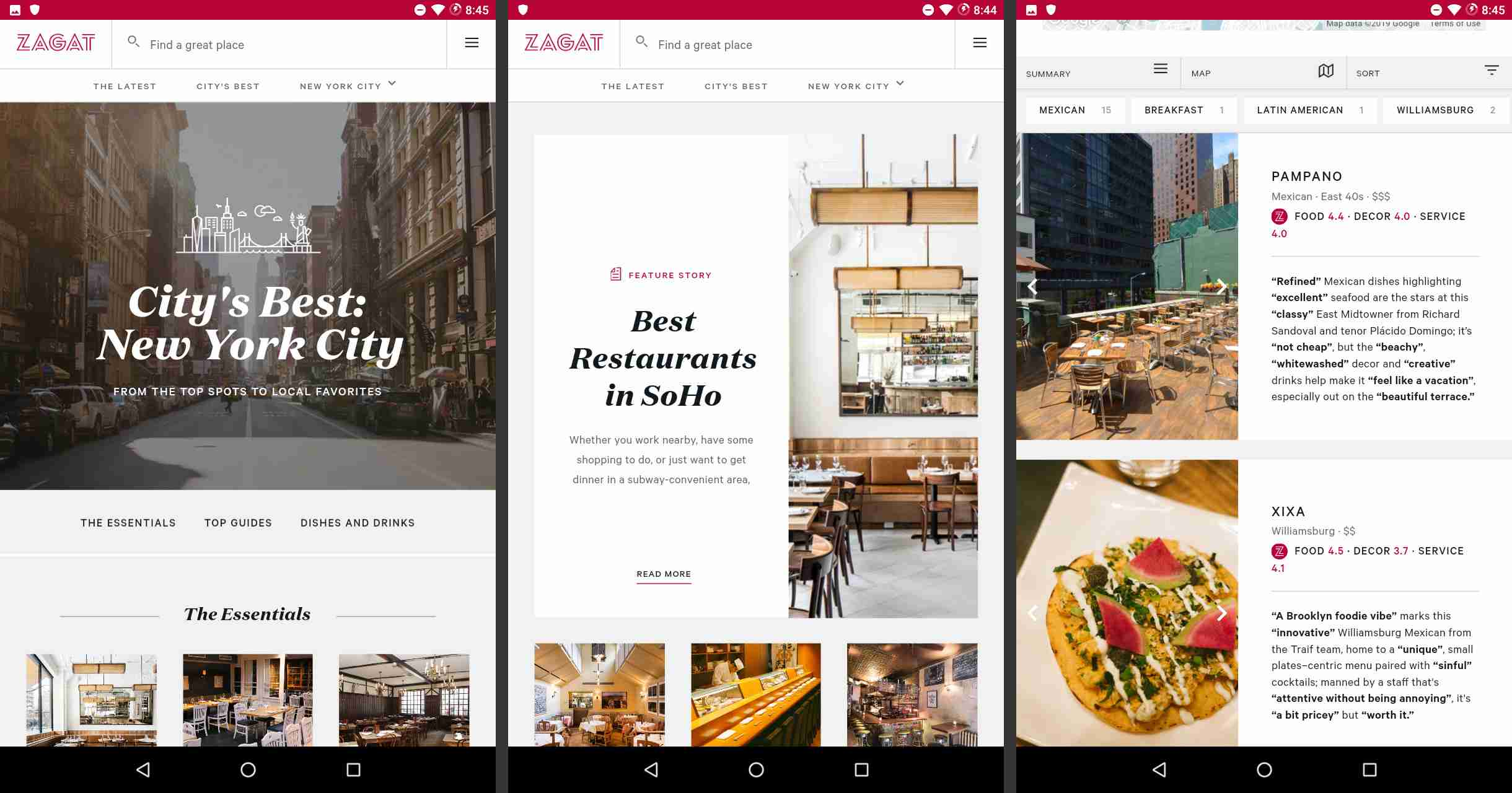 The 5 Best Android Food and Restaurant Apps Zagat Map on