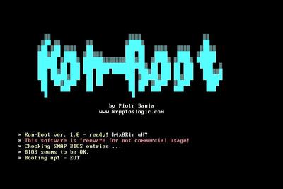Screenshot of Kon-Boot 1.0