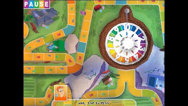 The Game of Life board with spin wheel