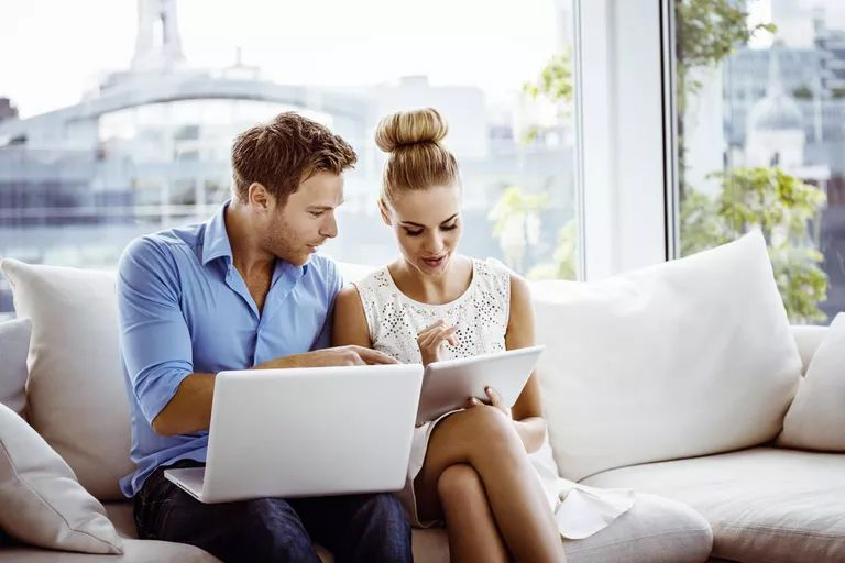 Couple with wireless devices sharing information