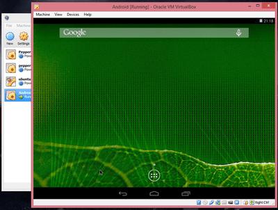 Android Screen Resolution VirtualBox